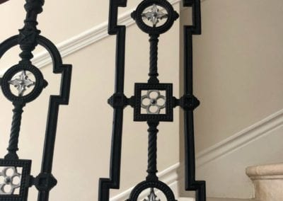 Replacing Missing Balustrade Panel, Kensington, London W8 3