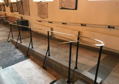 Brass Handrails for a Church in Richmond 3