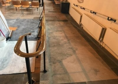 Brass Handrails for a Church in Richmond 4
