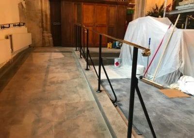 Brass Handrails for a Church in Richmond 6
