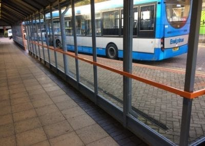 Bus Shelter Handrails, Intu Lakeside Shopping Centre, West Thurrock, Essex