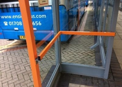 Bus Shelter Handrails, Intu Lakeside Shopping Centre, West Thurrock, Essex 2