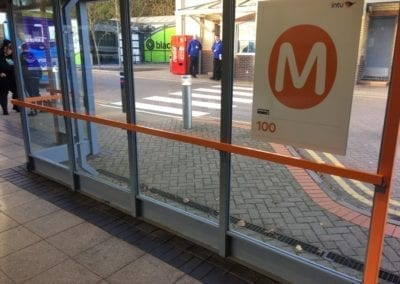 Bus Shelter Handrails, Intu Lakeside Shopping Centre, West Thurrock, Essex 3