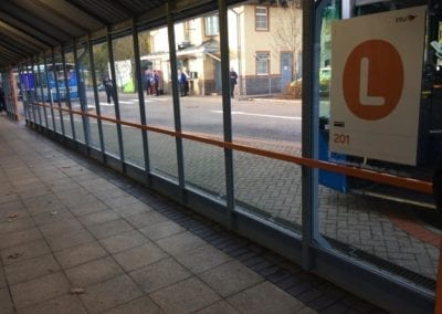 Bus Shelter Handrails, Intu Lakeside Shopping Centre, West Thurrock, Essex 4