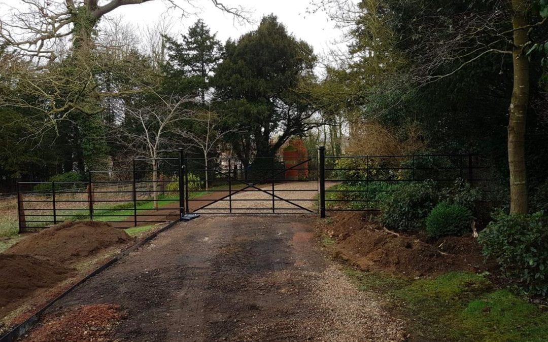New Gate & Railings, Chelsworth, Suffolk
