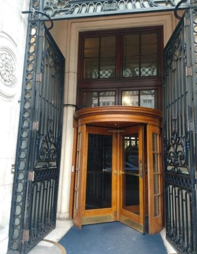 Repair of the Entrance Gates, Royal Automobile Club, 89 Pall Mall, St. Jamess, London SW1 2