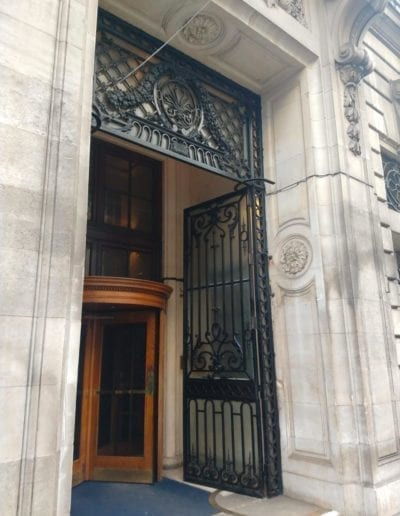 Repair of the Entrance Gates, Royal Automobile Club, 89 Pall Mall, St. Jamess, London SW1 3