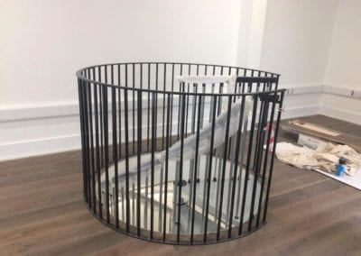 Metal Spiral Staircase for Historic London Building 5