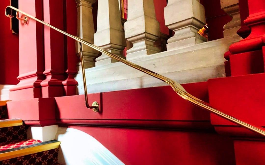 Brass Handrail Repairs, Grade I Listed, Stationer's Hall, London EC4