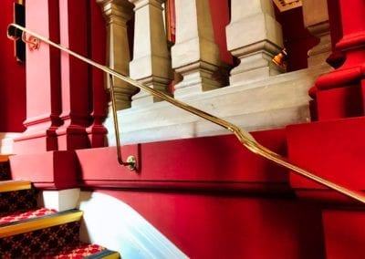 Brass Handrail Repairs, Grade I Listed, Stationer's Hall, London EC4