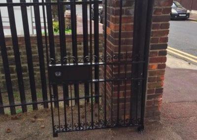 Metal Park Gate Repairs, Southchurch Park, Southend-on-Sea 02
