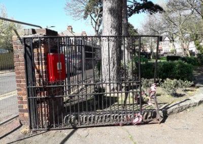 Metal Park Gate Repairs, Southchurch Park, Southend-on-Sea 03
