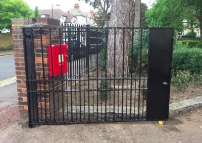Metal Park Gate Repairs, Southchurch Park, Southend-on-Sea