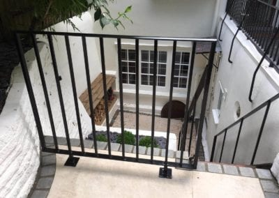 Bespoke Railings, Handrails and Heritage pages: Railings, Handrail and Gate Arch, London NW3