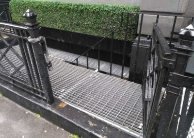 Grating for Staircase Stairwell, London W1.
