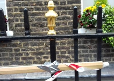 Repairs to Grade II Listed Railings, London EC1 03