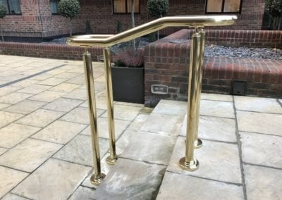 4 Double-Sided Polished Brass Handrails, London NW8 4
