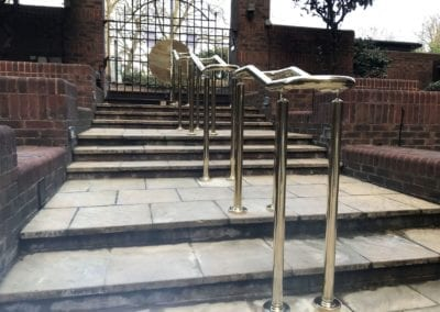 4 Double-Sided Polished Brass Handrails, London NW8 3