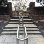 4 Double-Sided Polished Brass Handrails, London NW8 1