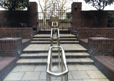 4 Double-Sided Polished Brass Handrails, London NW8