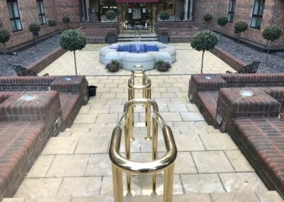 4 Double-Sided Polished Brass Handrails, London NW8 2