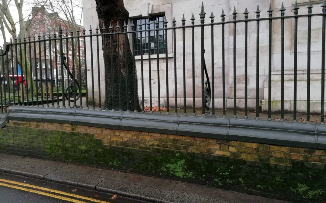 Railing Repairs, St. Luke's, Old Street, London EC1