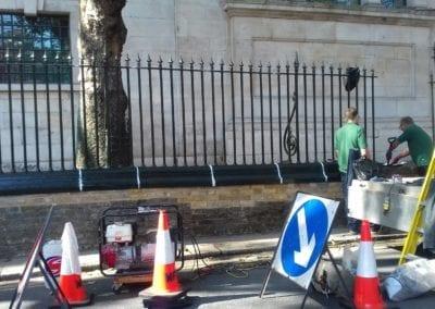 Railing Repairs, St. Luke's, Old Street, London EC1 4
