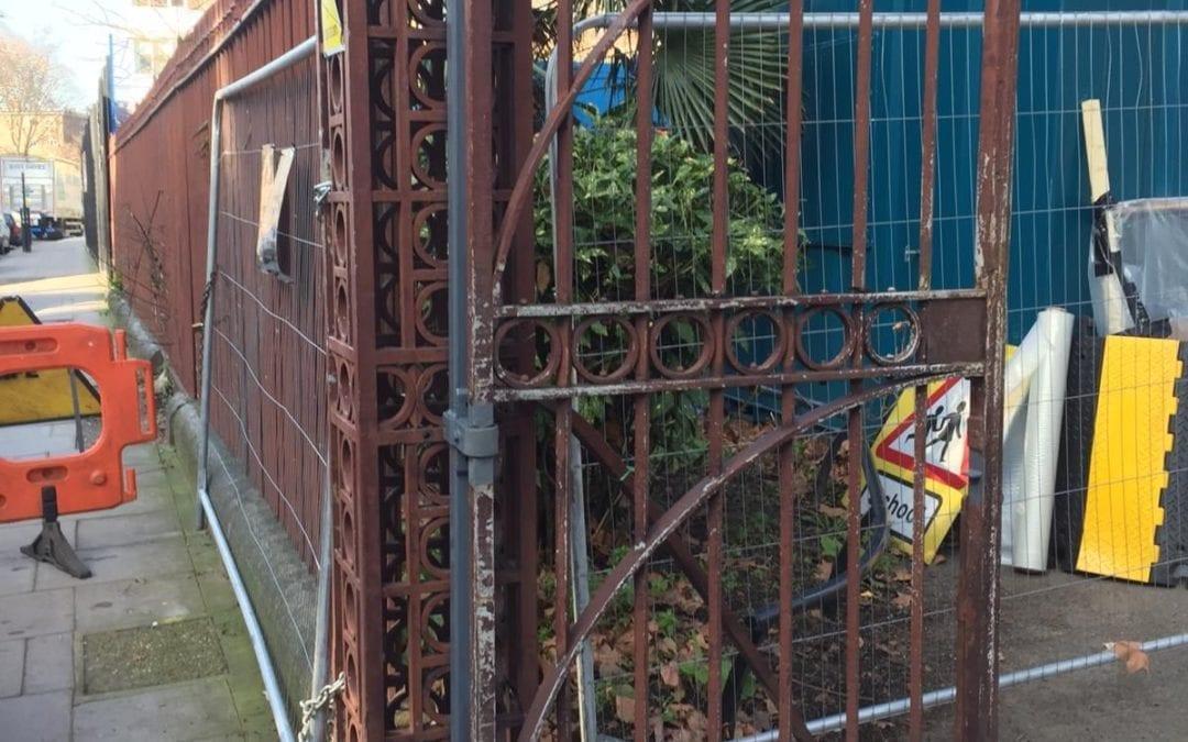 Gate Repairs, Grade II Listed St. John the Baptist, Hoxton, London N1