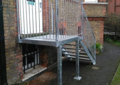New Mild Steel Galvanised Staircase for South Hampstead High School 3