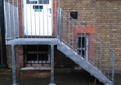 New Mild Steel Galvanised Staircase for South Hampstead High School 4