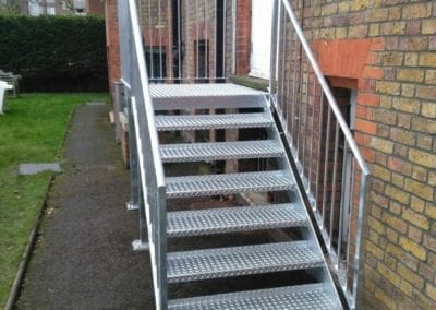 New Mild Steel Galvanised Staircase for South Hampstead High School 2