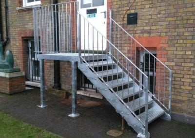 New Mild Steel Galvanised Staircase for South Hampstead High School 1