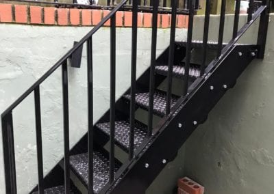 Mild Steel Staircase and Handrail, Brockley, London SE4