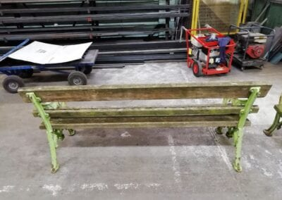 Restoration of Victorian Park Benches, London E14 3