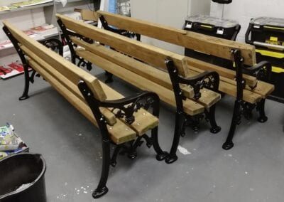 Restoration of Victorian Park Benches, London E14 2