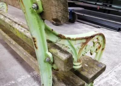 Restoration of Victorian Park Benches, London E14 5