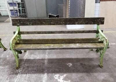Restoration of Victorian Park Benches, London E14 4