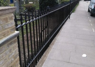 Second Major Railing Repair Project, Grade II Listed St. James' Church, Enfield 2