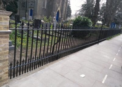 Second Major Railing Repair Project, Grade II Listed St. James' Church, Enfield