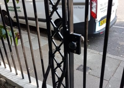 New Gate, Gate Column, Backstays and Railings, Canonbury, London N1 3