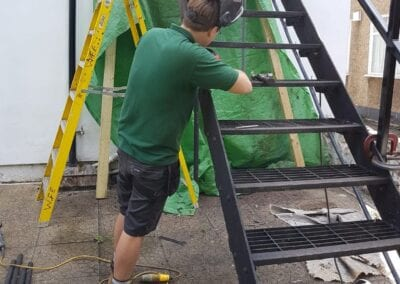 Staircase Repairs page. New Staircase Handrails and Landing, Woodford Green, Essex IG8 2