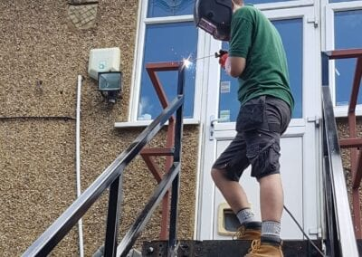Staircase Repairs page. New Staircase Handrails and Landing, Woodford Green, Essex IG8 3