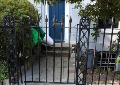 New Gate, Gate Column, Backstays and Railings, Canonbury, London N1