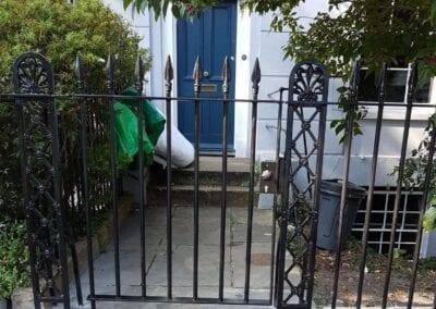 New Gate, Gate Column, Backstays and Railings, Canonbury, London N1