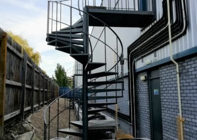 Inspection of 2 fire escapes in Maidenhead, and 1 fire escape in Croydon.