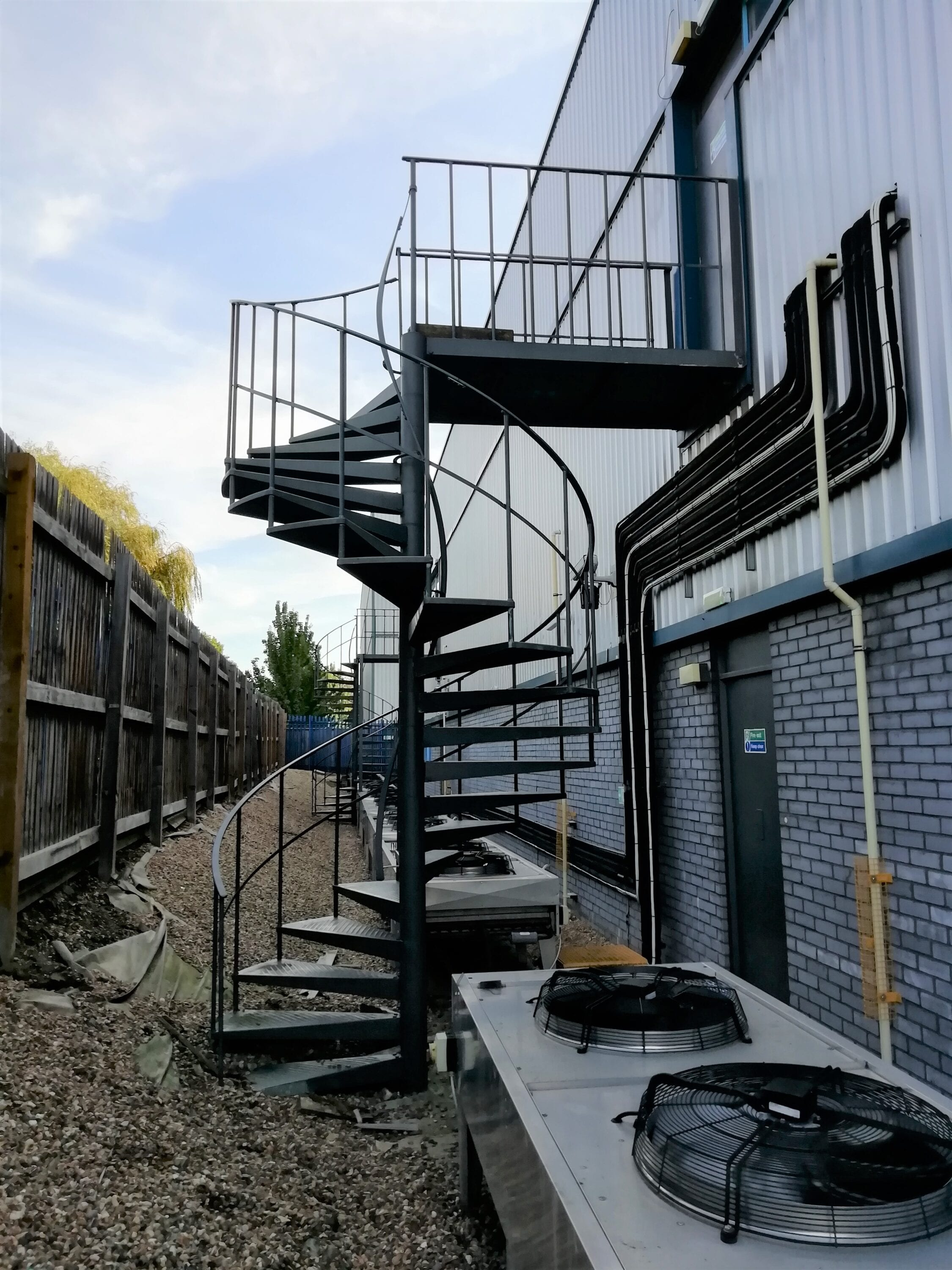 Inspection of 2 fire escapes in Maidenhead, and 1 fire escape in Croydon 1