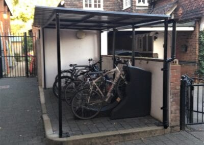 New Bike Shelter, Bancroft's School, Woodford Green, Essex