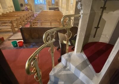 Brass Pulpit Rail for Victorian Church in Kent 4