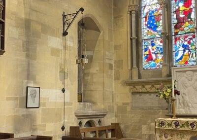 Brass Chandelier for Victorian Church in Kent 4