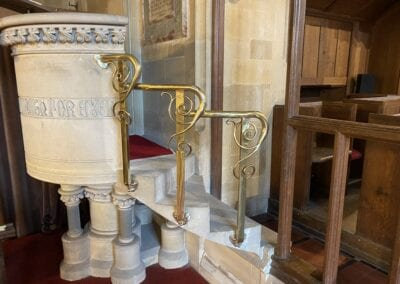 Brass Pulpit Rail for Victorian Church in Kent 2